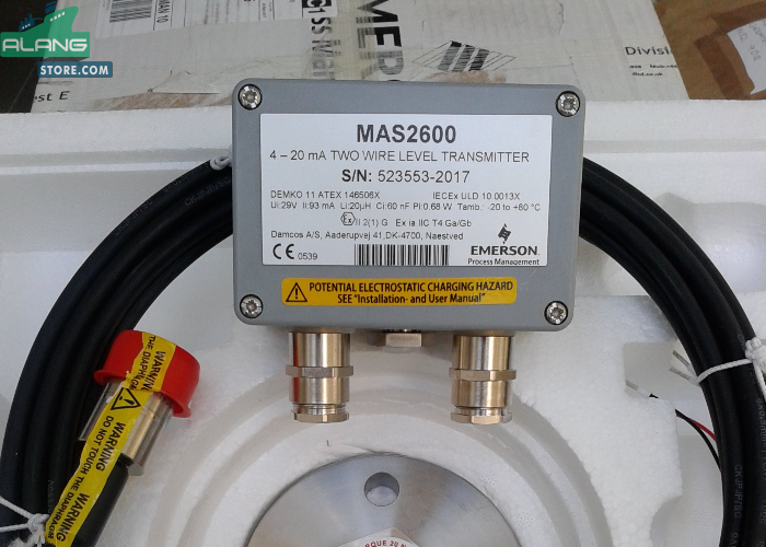 Emerson MAS 2600 Transducer And Amplifier ENGINE CONTROL AND ALARM SYSTEM